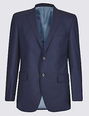 Big & Tall Navy Tailored Fit Suit Including Waistcoat