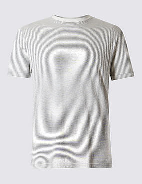 Pure Cotton Stay Soft Striped T-Shirt with StayNEW™