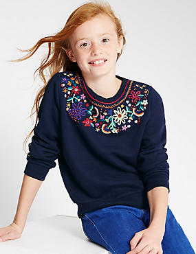 Embroidered Long Sleeve Sweatshirt (5-14 Years)