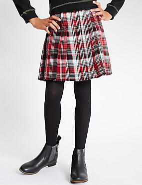 Pure Cotton Checked Kilt Skirt (5-14 Years)
