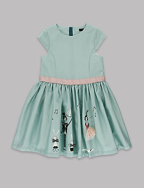 Cotton Rich Border Dress (1-7 Years)