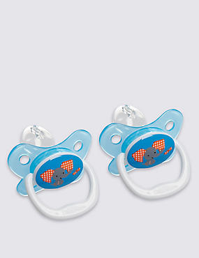 Twin Pack Orthodontic Soother 6-12 Months