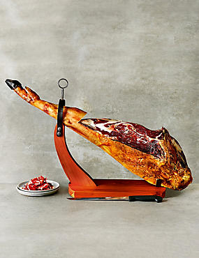 Whole Iberico Leg with Knife & Stand - 100% Raza Ibérica