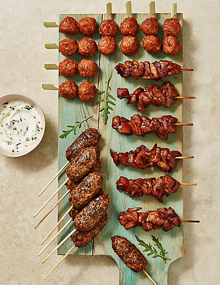Chicken Kebab Platter Selection (22 Pieces)