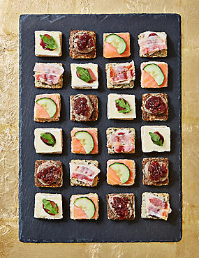 Help Shelter Christmas Mini Canape Selection (24 pieces)