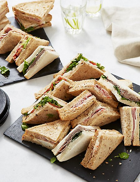 Meat sandwich selection 20 pieces m s for Good fish sandwich near me