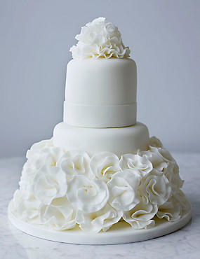 Collections White Ruffle Cake - All Butter Sponge