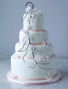 Collections Falling Blossom Cake - All Butter Sponge