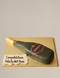 Prosecco Bottle Cake (Pre-Order: Available from 15th February 2017)
