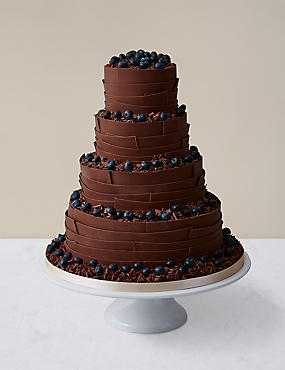 Chocolate Ribbons Wedding Cake Milk Chocolate (Pre-Order: Available from 23rd February 2017)