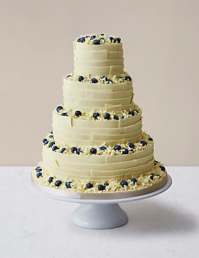 Chocolate Ribbons Wedding Cake White Chocolate (Pre-Order: Available from 23rd February 2017)