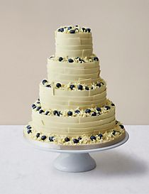 Chocolate Ribbons Wedding Cake White Available To Order Until 5th February 2018