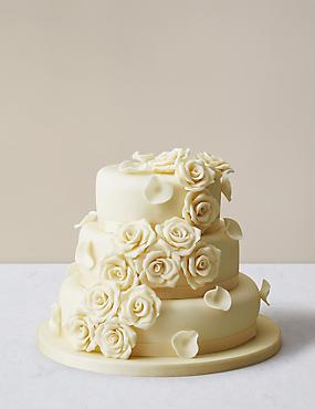 Round Wedding Cake Diamond Shape Frosting