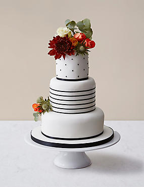Vogue Wedding Cake White & Black Icing (Pre-Order: Available from 23rd February 2017)