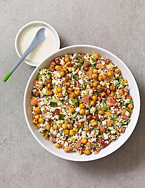 Cauliflower & Harissa Chickpea Salad