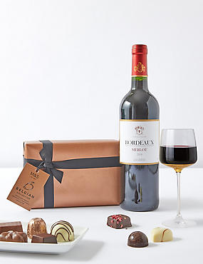 Bordeaux & Italian Chocolates Gift