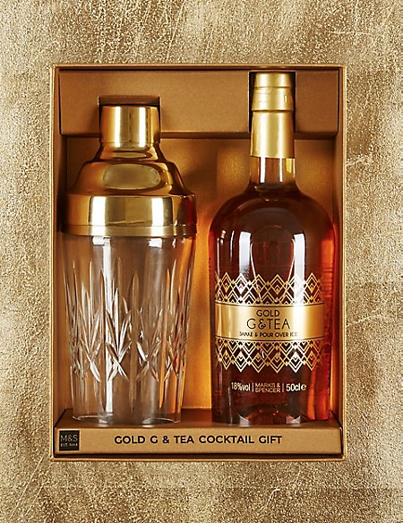 Gold G & Tea Cocktail Gift