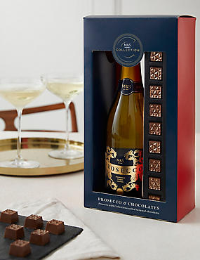 Luxury hampers gifts for him her ms the collection prosecco chocolates gift set negle Gallery