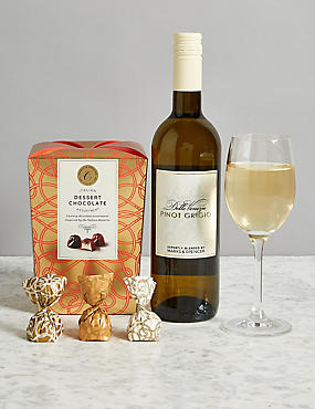 White Wine & Swiss Chocolates Gift