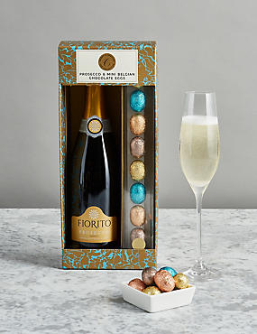 Food wine chocolate alcohol gifts ms the collection prosecco and mini belgian chocolate eggs negle Images
