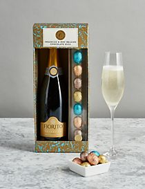 The Collection Prosecco & Mini Belgian Chocolate Eggs (Pre Order)