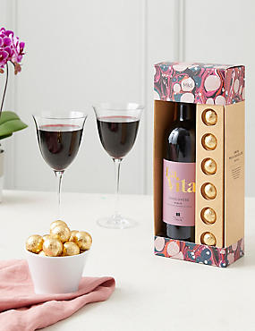 Red Wine & Belgian Chocolate Gift Set