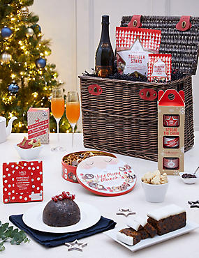 Classic Christmas Hamper with Fizz