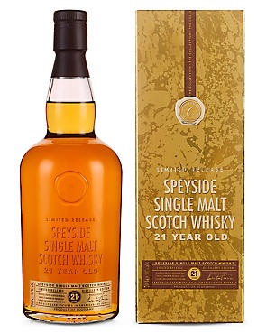 The Collection Speyside 21 year Old Malt Scotch Whisky - Single Bottle