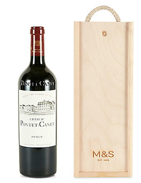 Château Pontet-Canet - Single Bottle with Wooden Presentation Box