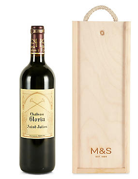 Château Gloria - Single Bottle with Wooden Presentation Box