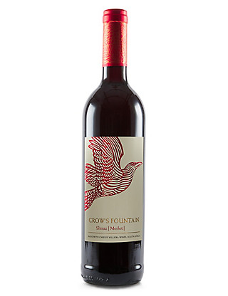 Crow's Fountain Shiraz, Merlot & Pinotage - Case of 6 Wine