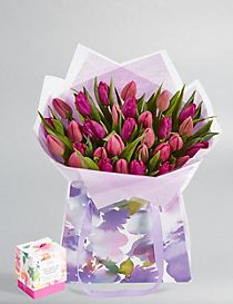 Large Mother's Day Tulip Gift Bag - Free Chocolates worth £5 (Free Delivery from 21-28 March)