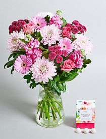 Mother's Day Bouquet - Free Chocolates worth £5 (Free Delivery from 23-28 March)
