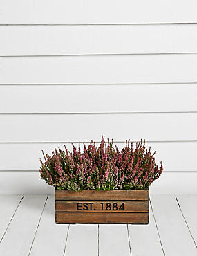 Heather Wooden Planter
