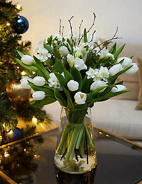 Fragrant Winter White Flower Bouquet