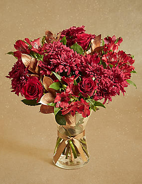 Christmas Vase Flower Bouquet