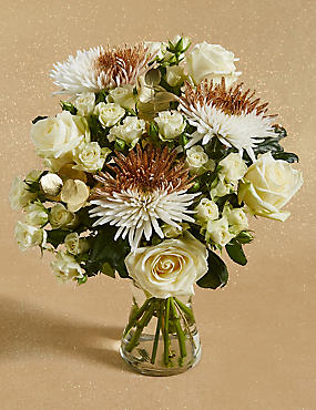 Sparkling Gold Flower Bouquet