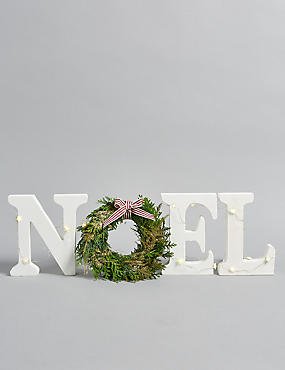 Christmas Postal NOEL Wreath