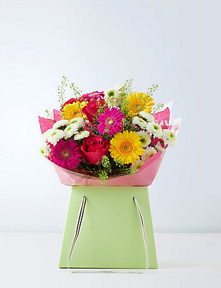 Autumn Brights Gift Bag Flowers