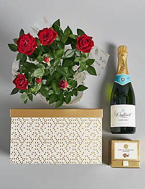 Festive Luxury Rose Hamper