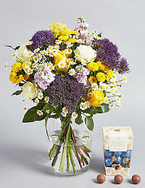 April Sunshine Bouquet with Free Chocolates