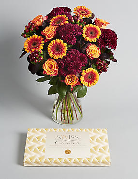 Autumn Bouquet of the Season with Chocolates