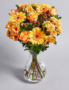 Auburn Fall Flower Bouquet
