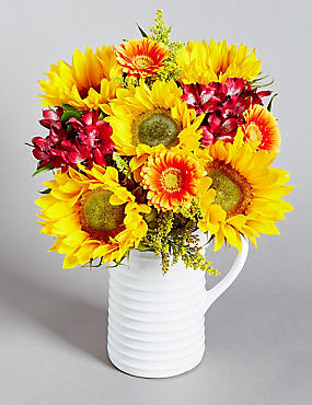Autumn Sunflower Jug