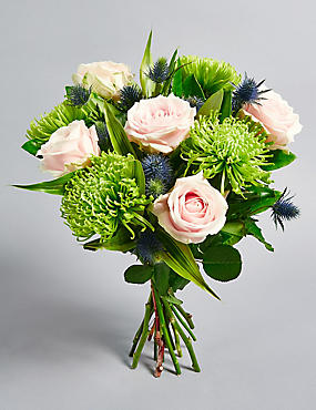 The Collection Rose & Sea Thistle Bouquet