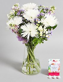 Heart Warming Lilac Blooms with Free Chocolates worth £6 (Pre-order for delivery from 6th March)