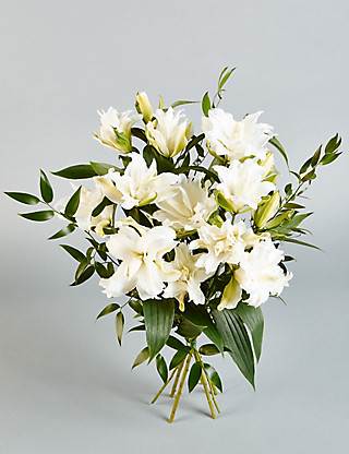 Autograph™ White Double Lilies Flowers