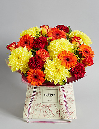Autumn Brights Gift Bag Large Flowers