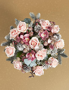 The Collection Christmas Glamour Flower Bouquet