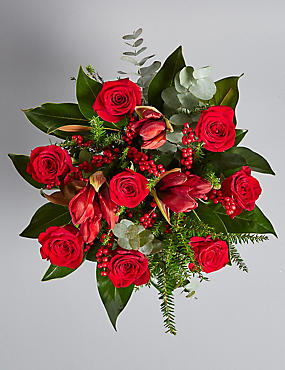 The Collection Red Velvet Flower Bouquet